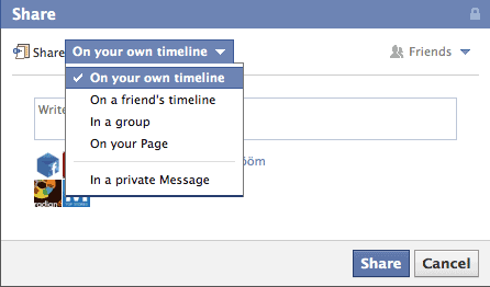 share your interest list