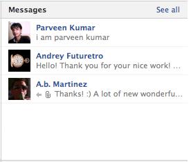 facebook timeline private message