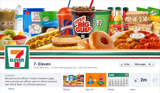 7eleven facebook cover photo