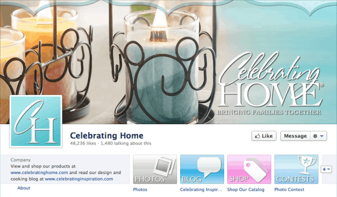 celebrating home facebook cover photo