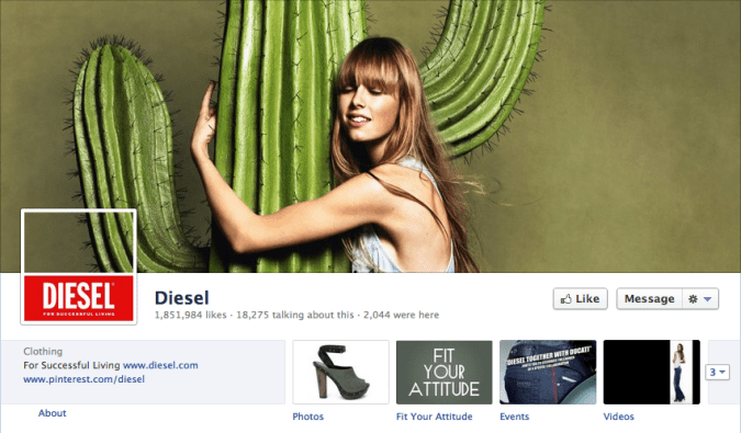 diesel facebook cover photo