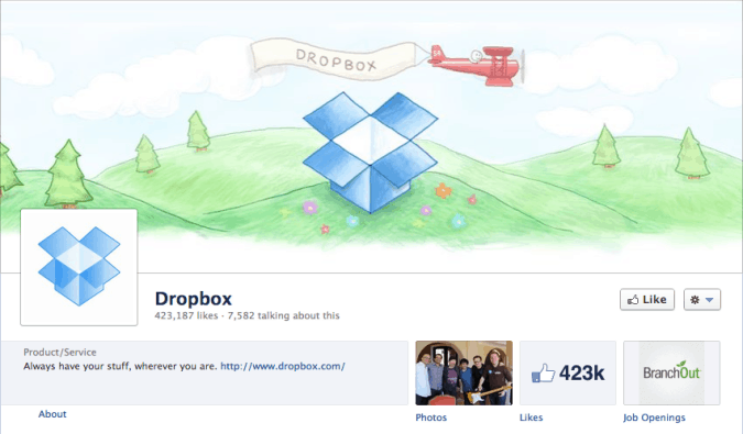 dropbox facebook cover photo