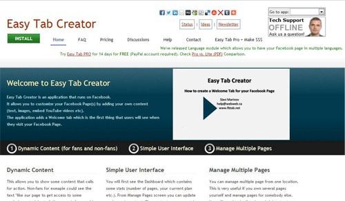 Easy Tab Creator Free Facebook Page Creation Tools