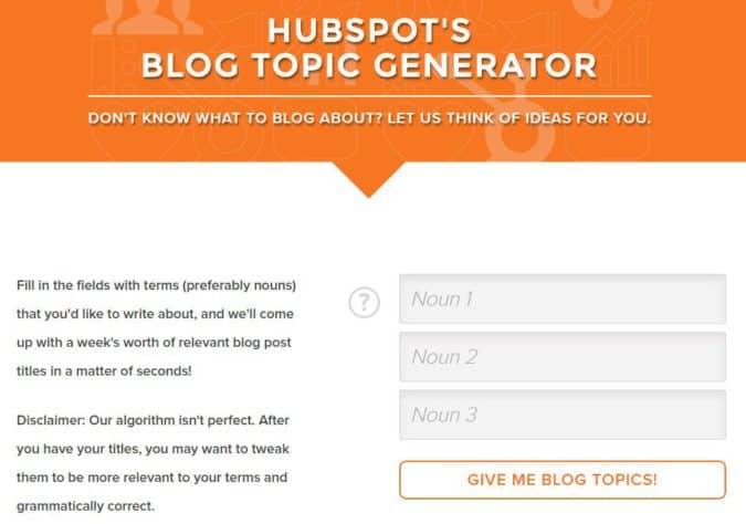 hubspot-blog-topic-generator