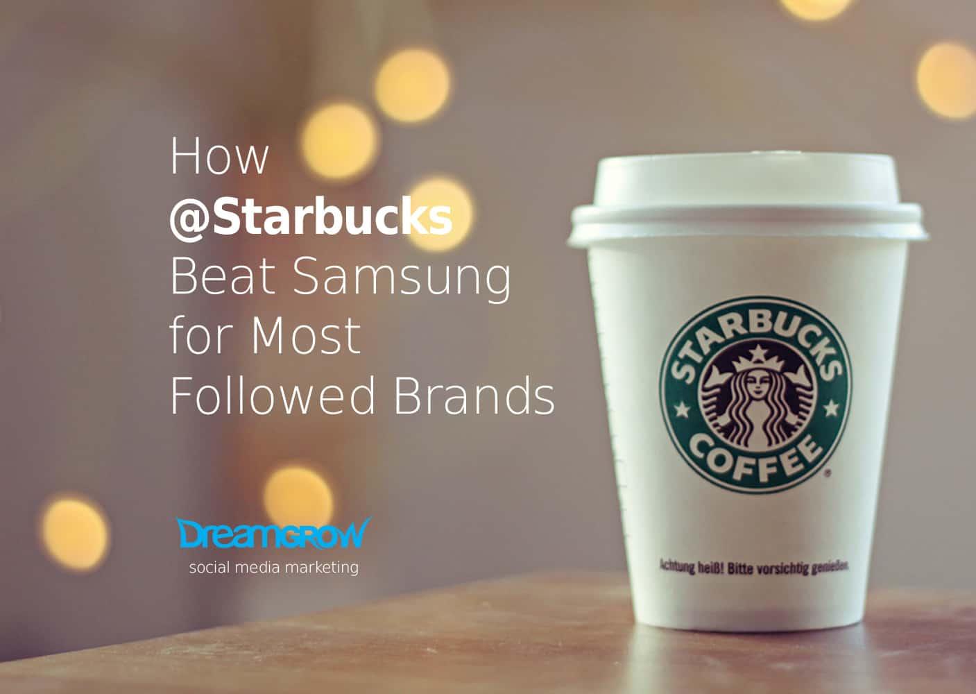 starbucks most followed brand