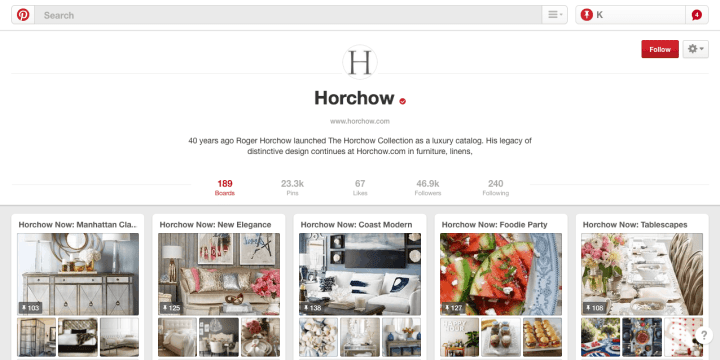 horchow pinterest marketing