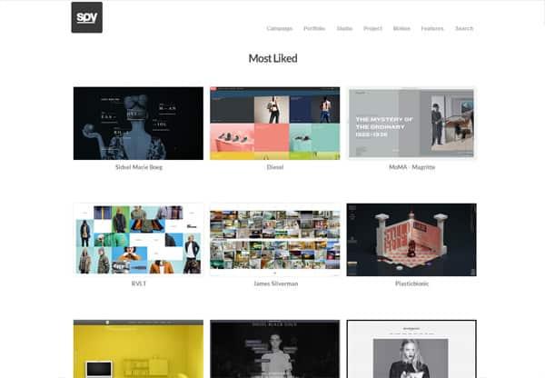 visual content photo gallery design