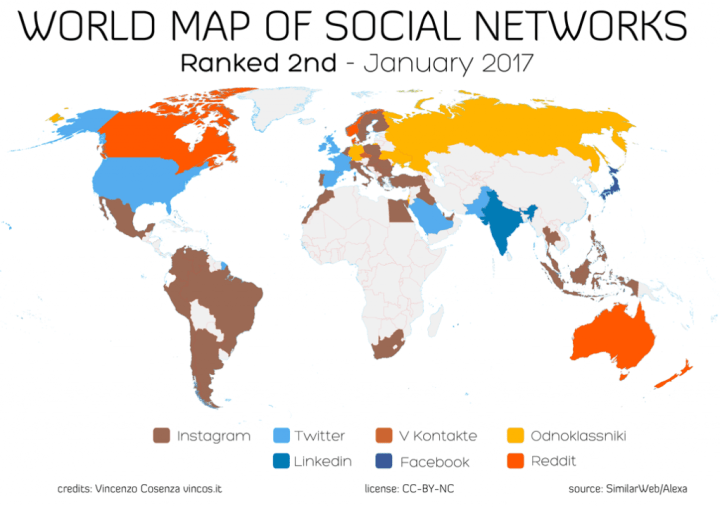 world map of social networks second