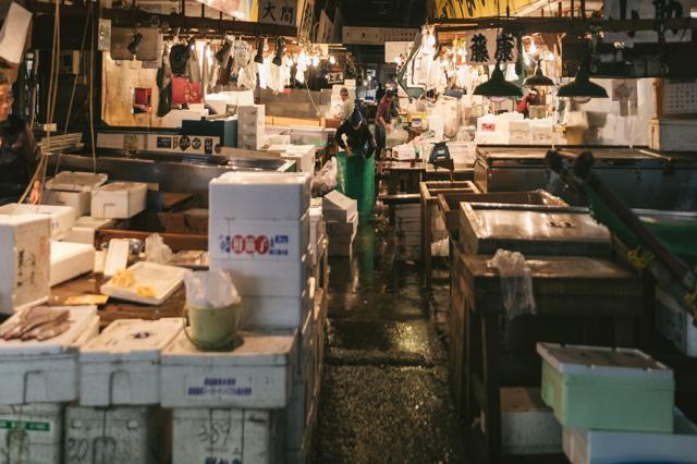 mercato del pesce Tsukiji