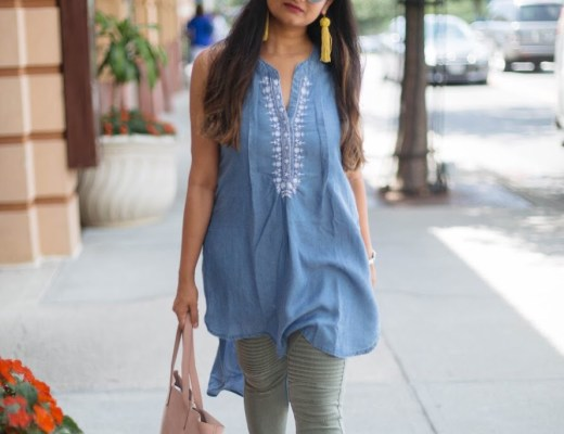 Chambray-tunic-and-moto-jegging-1
