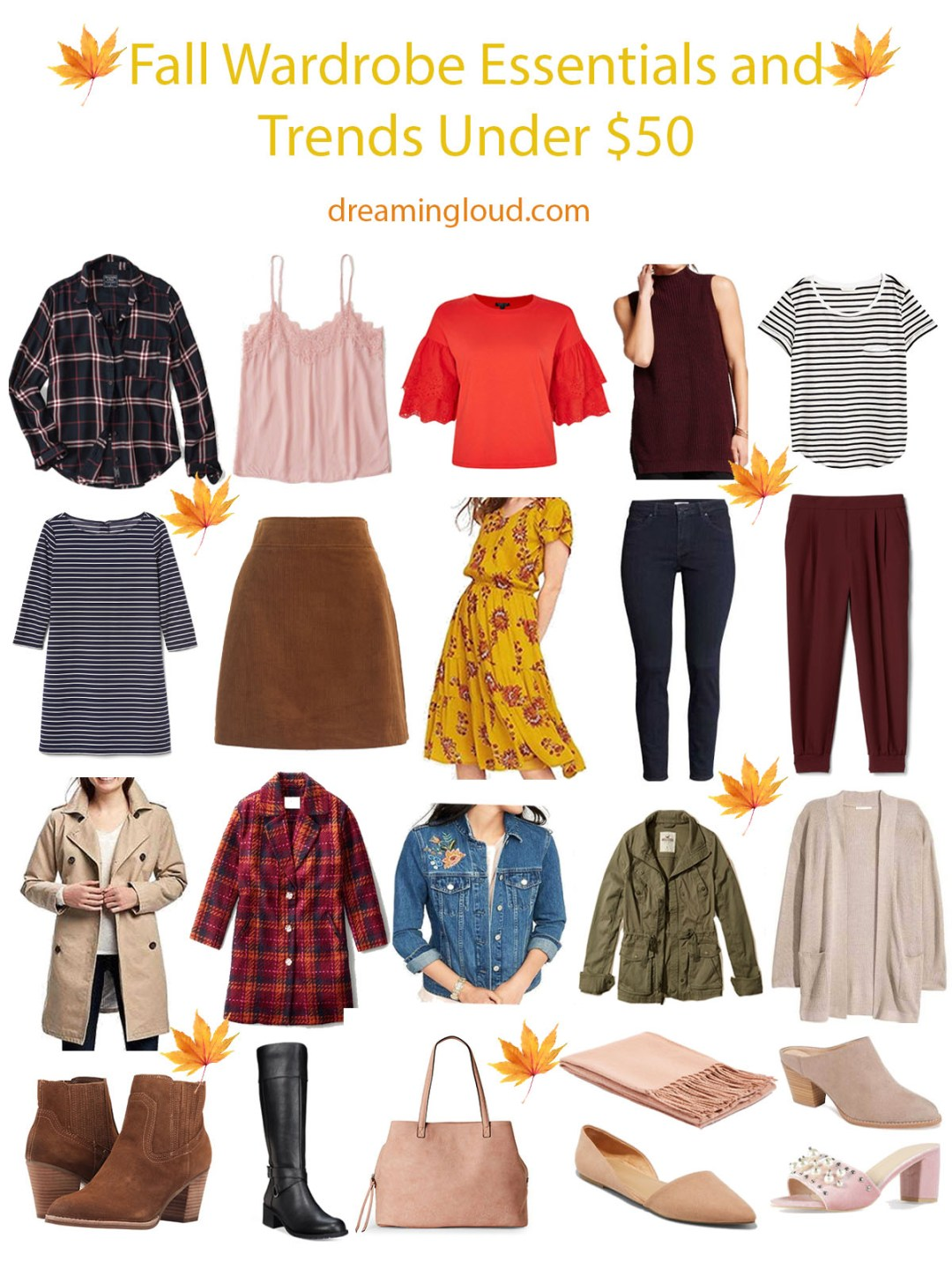Fall-wardrobe-essentials-and-trends-2017-under-$50-dreaming-loud-1