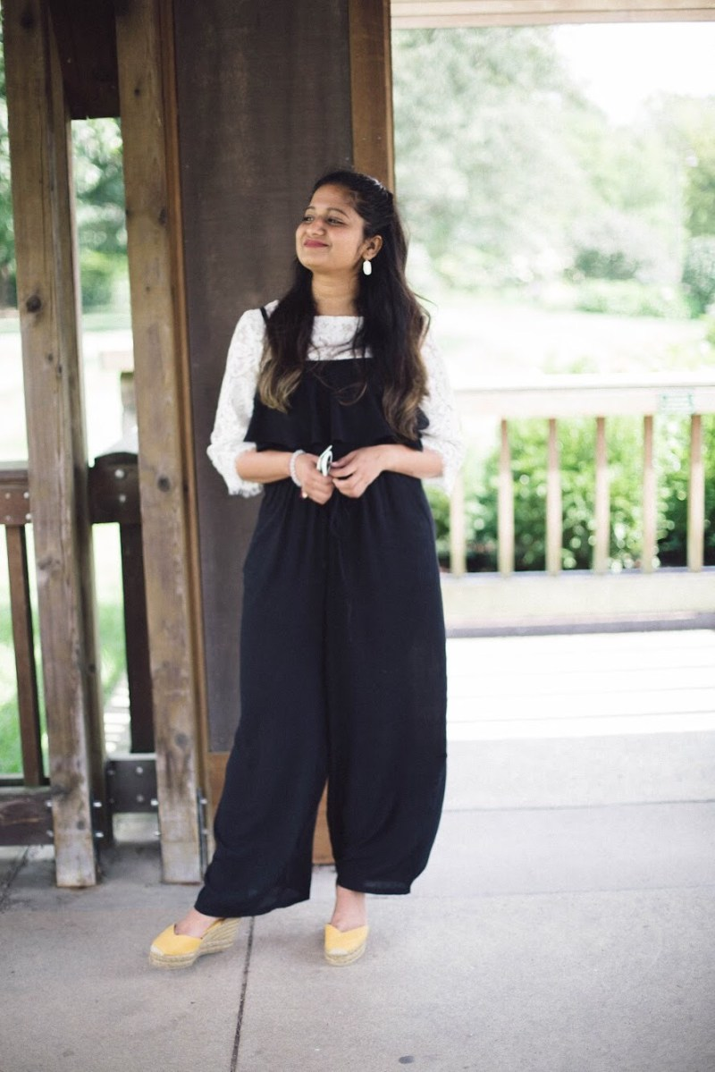 Lifestyle-blogger-Surekha-of-dreaming-loud-wearing-old-navy-ruffles-off-shoulder-jumpsuit-2