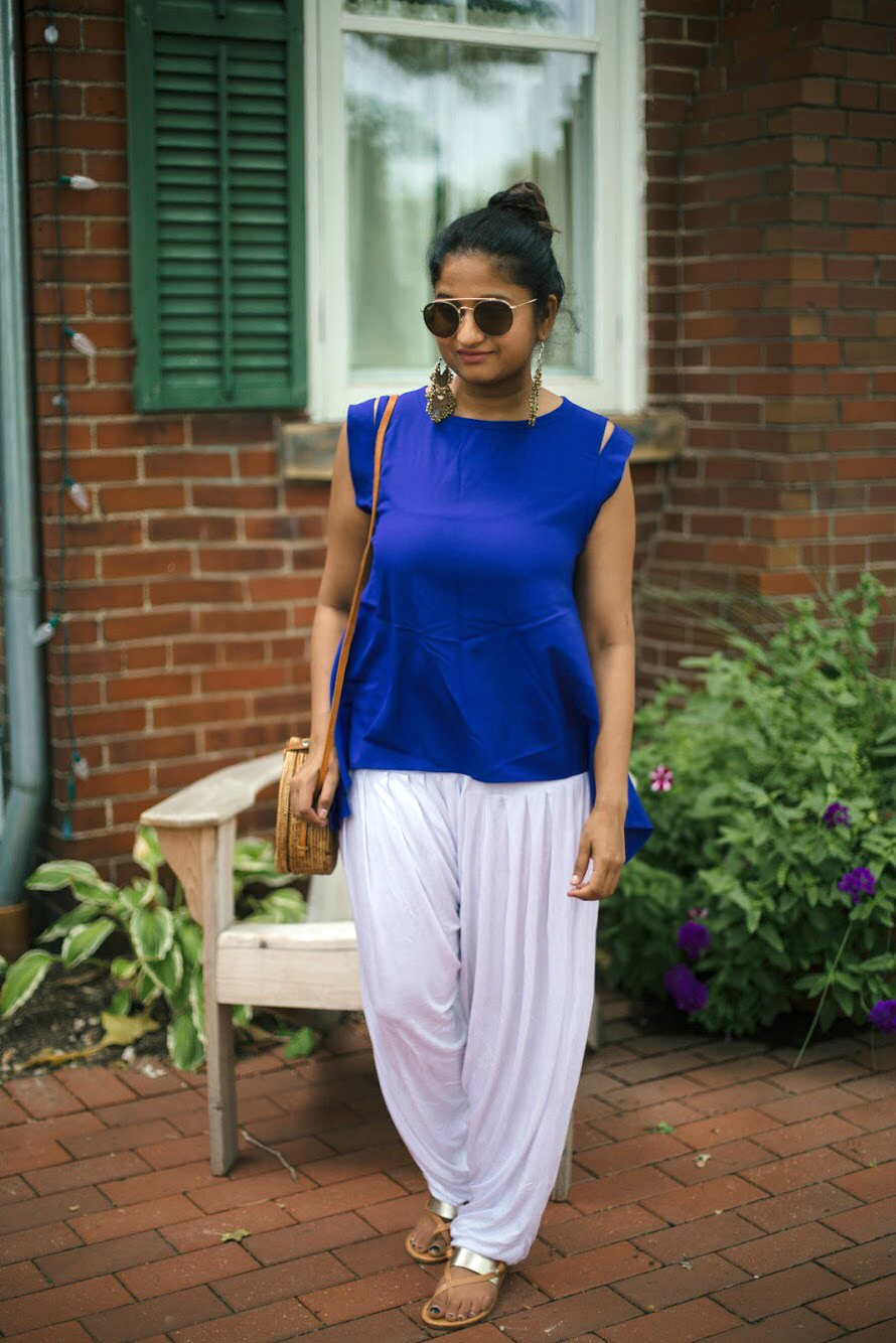 how-to-wear-harem-pants-indian-fusion
