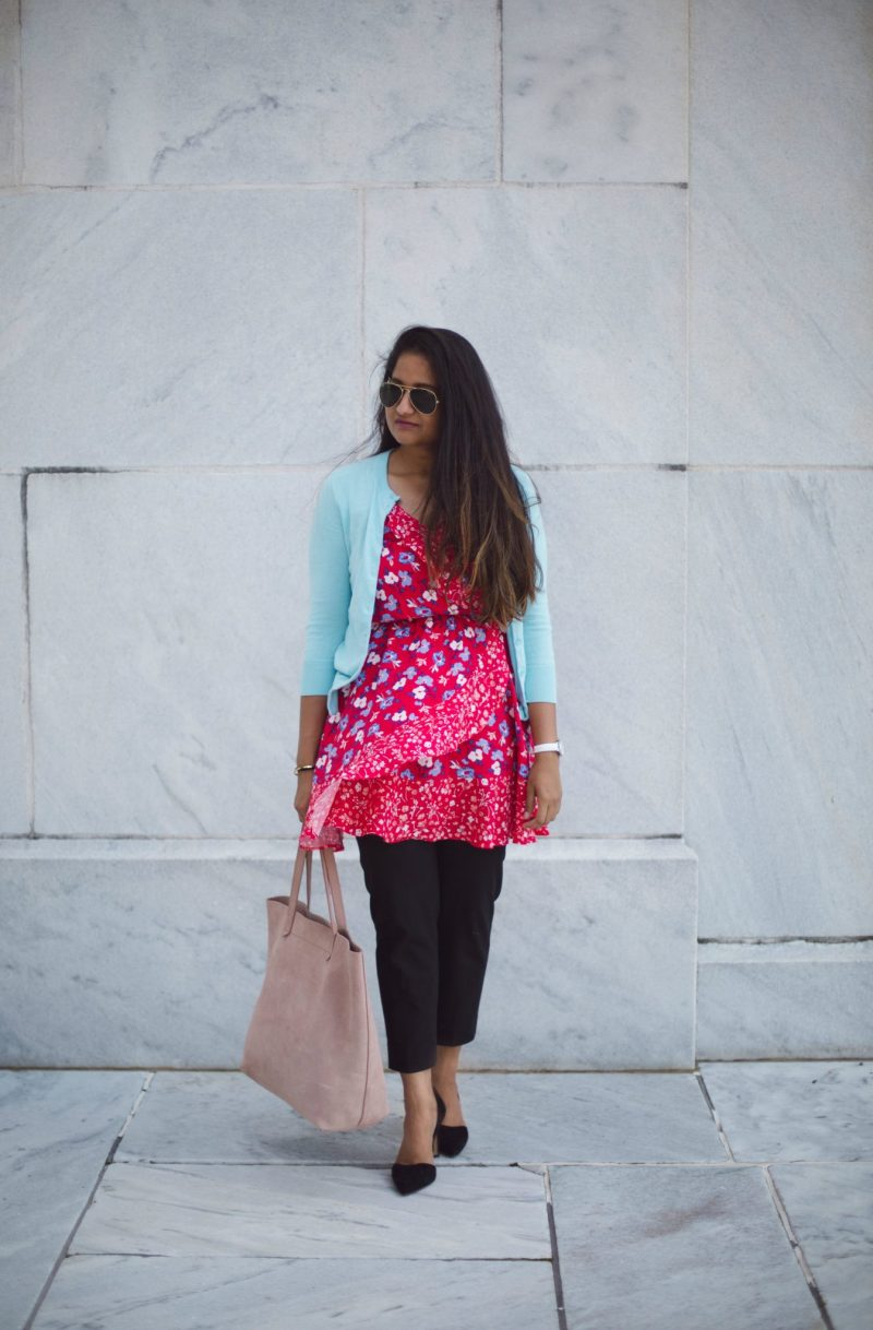 how-to-wear-light-blue-cardigan-to-work-in-5-ways-by-dreaming-loud-2