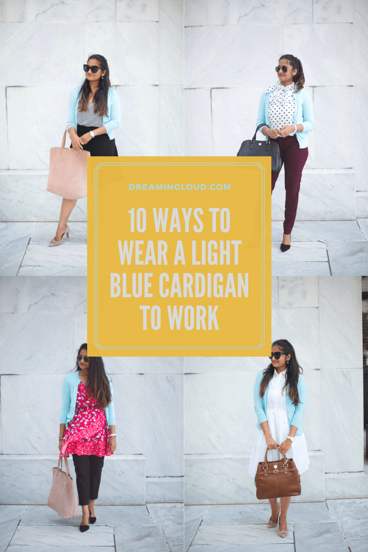 how-to-wear-light-blue-cardigan-to-work-in-5-ways-by-dreaming-loud
