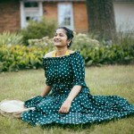 lifestyle-blogger-surekha-of-dreaming-loud-wearing-Shein-Polka-Dot Bardot-Neckline-Tie-Waist-Dress-2
