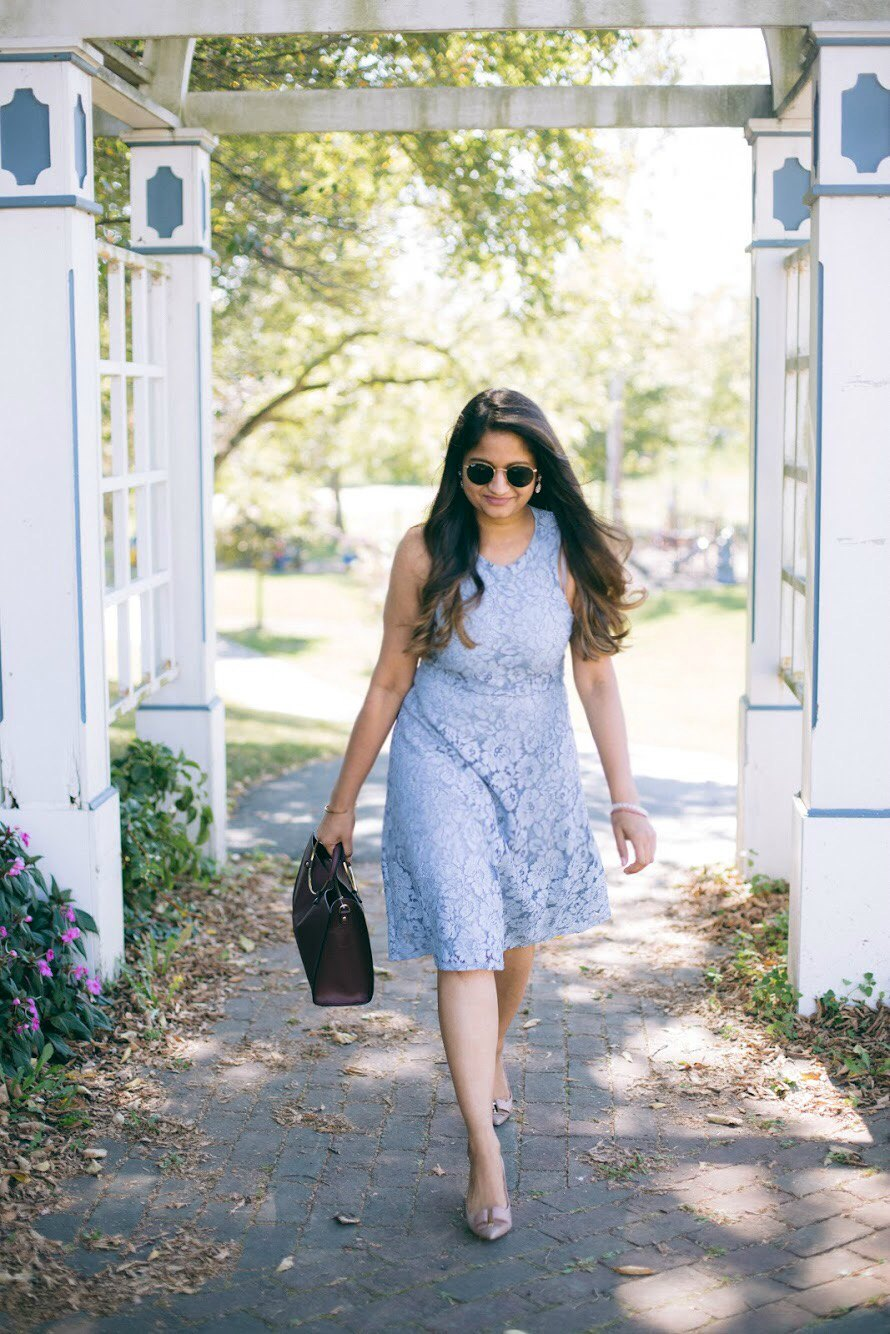 Lifestyle blogger Surekha of dreaming loud wearing Soprano Popover Lace Dress 1