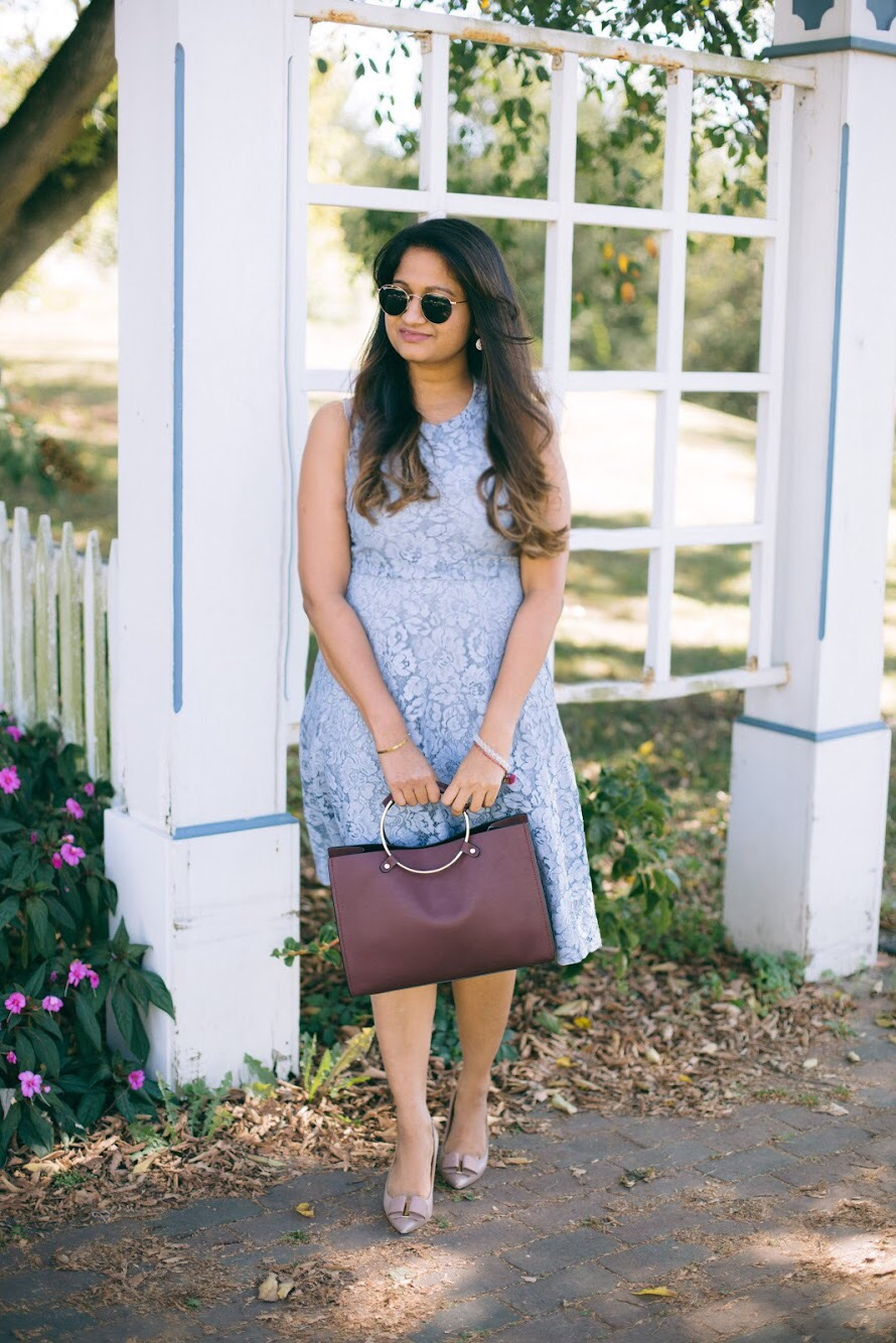Lifestyle blogger Surekha of dreaming loud wearing Soprano Popover Lace Dress 2