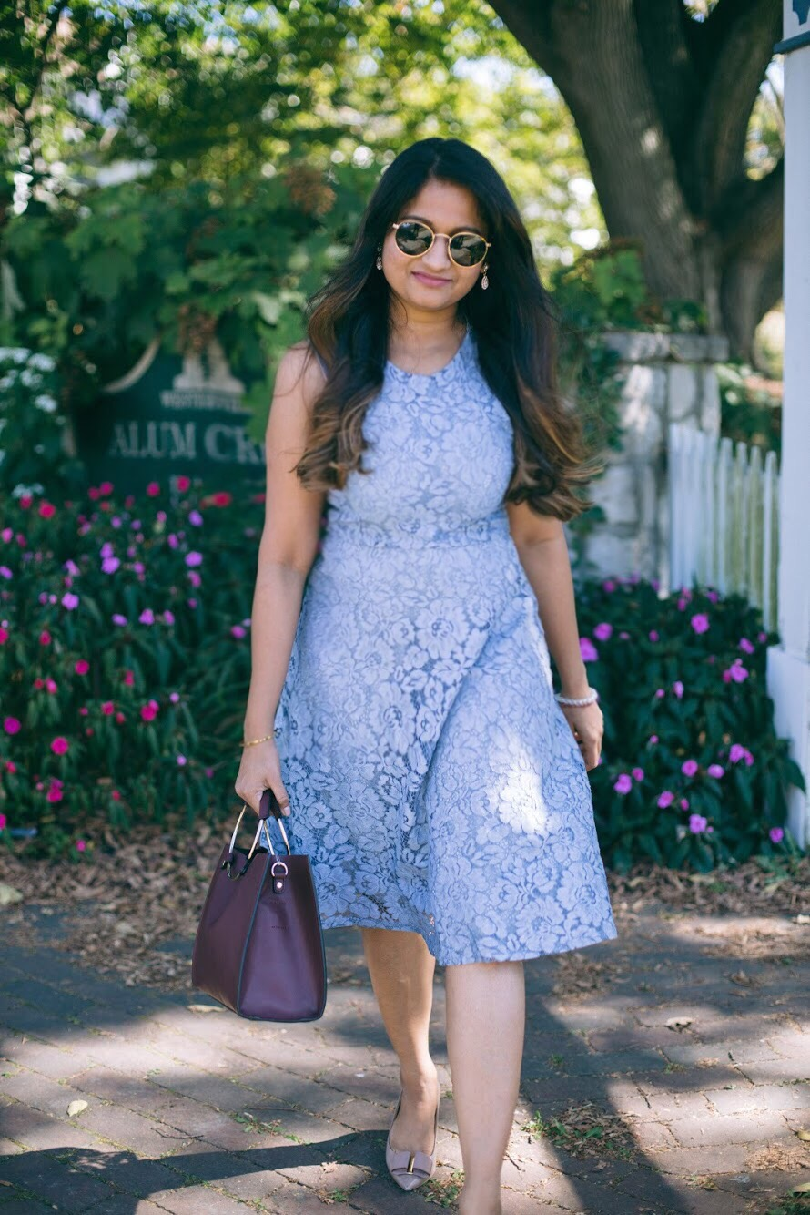 Lifestyle blogger Surekha of dreaming loud wearing Soprano Popover Lace Dress 7