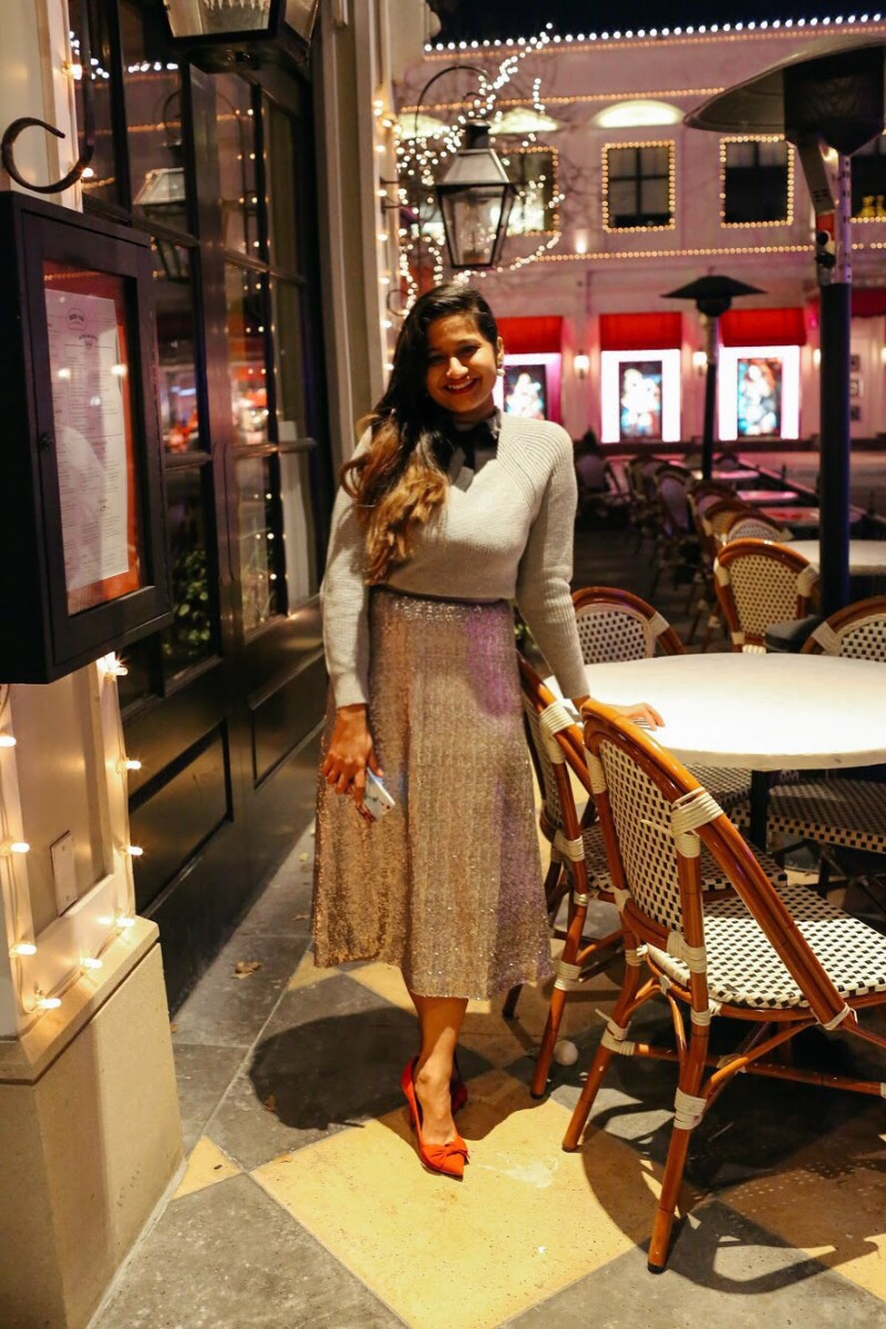 Lifestyle Blogger Surekha of Dreaming Loud Wearing J.Crew Gayle Tie Neck Bow Sweater 1