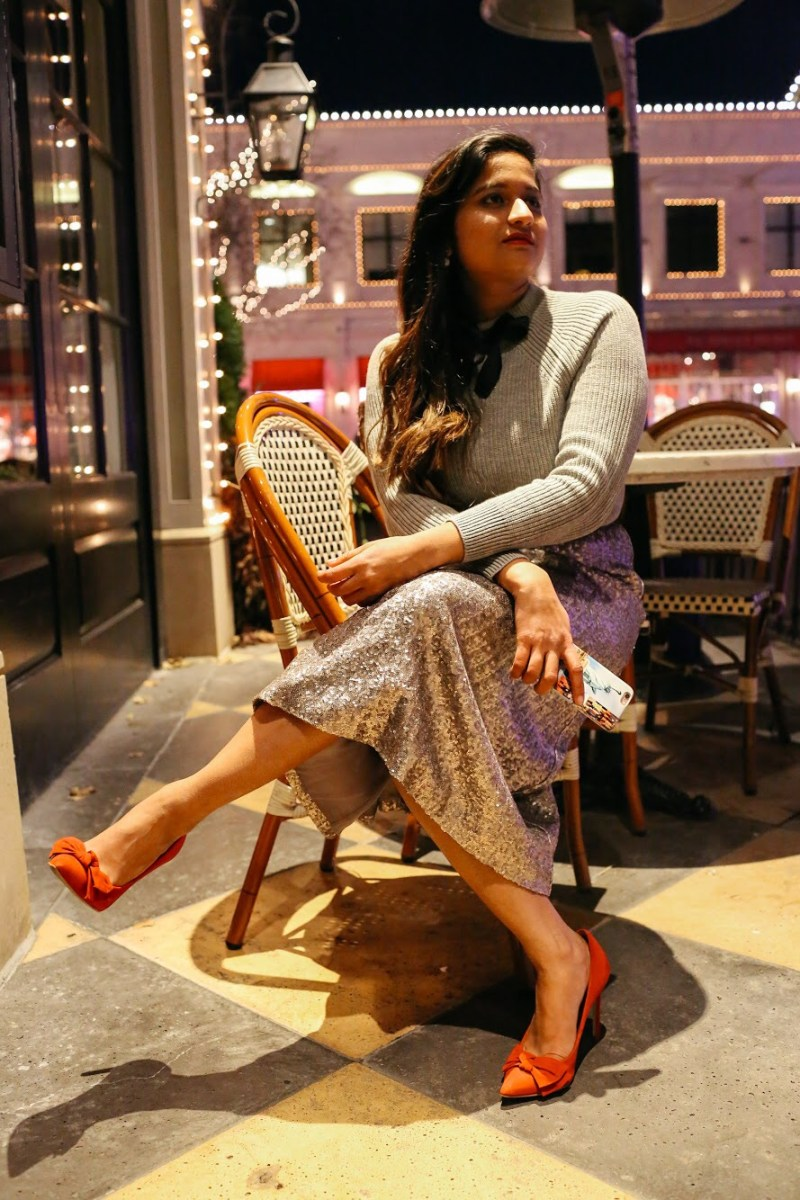 Lifestyle Blogger Surekha of Dreaming Loud Wearing Red bow pumps