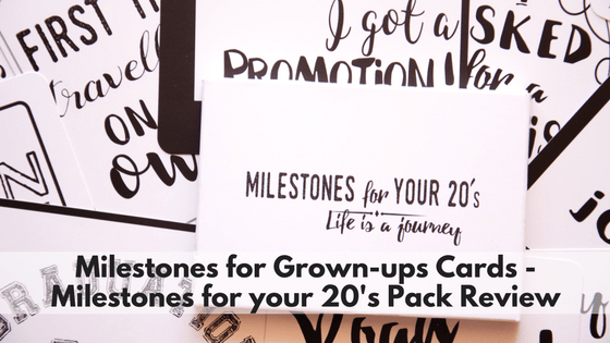 Milestones for Grown-ups Cards - Milestones for your 20's Pack Review