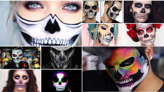 10 absolutely amazing halloween skull makeup turorials youll love dreaming of butterflies