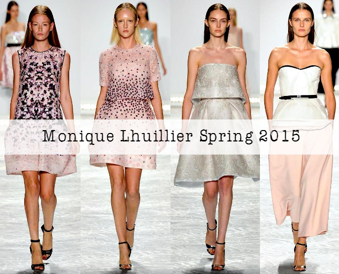 Monique Lhuilier Spring 2015 Collection at New York Fashion Week