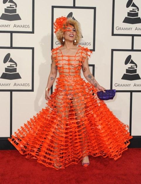 Joy Villa in Andre Soriano - 2015 Grammys