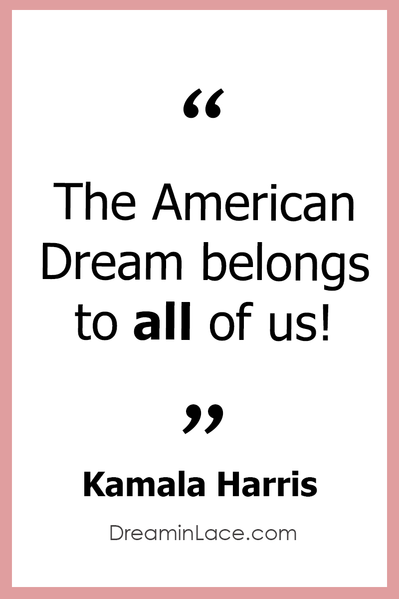 Inspiring Women's Day Quote by Kamala Harris #WomensDay #KamalaHarris #Quotes