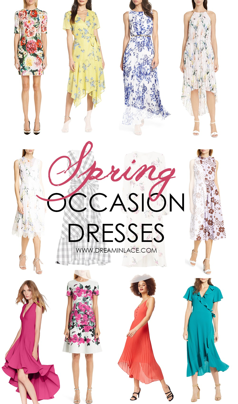 Spring Occasion Dresses I Dreaminlace.com #springstyle #styletips