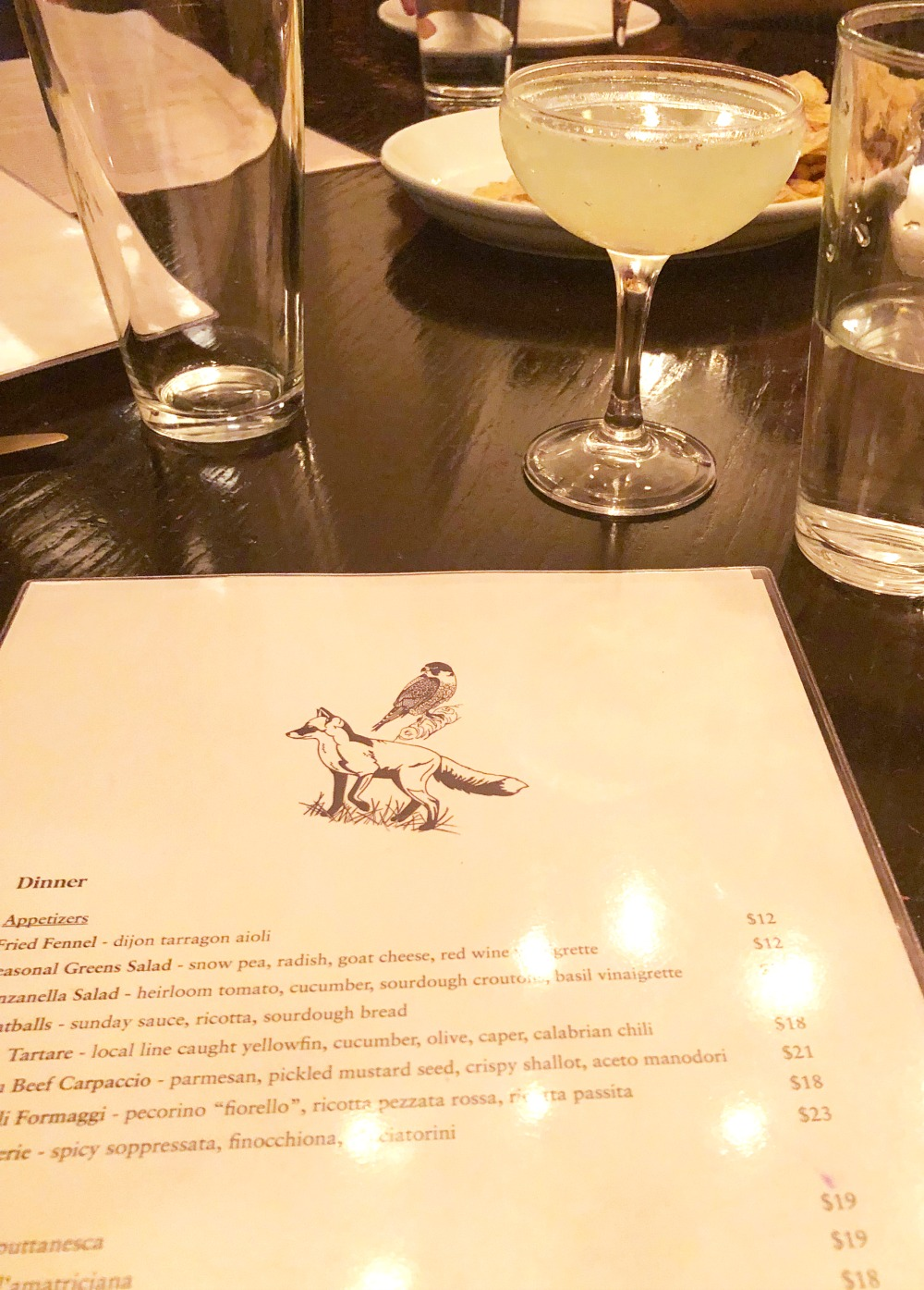 Photo Diary I South Orange New Jersey Fox and the Falcon Restaurant Martini #Travel #travelblogger