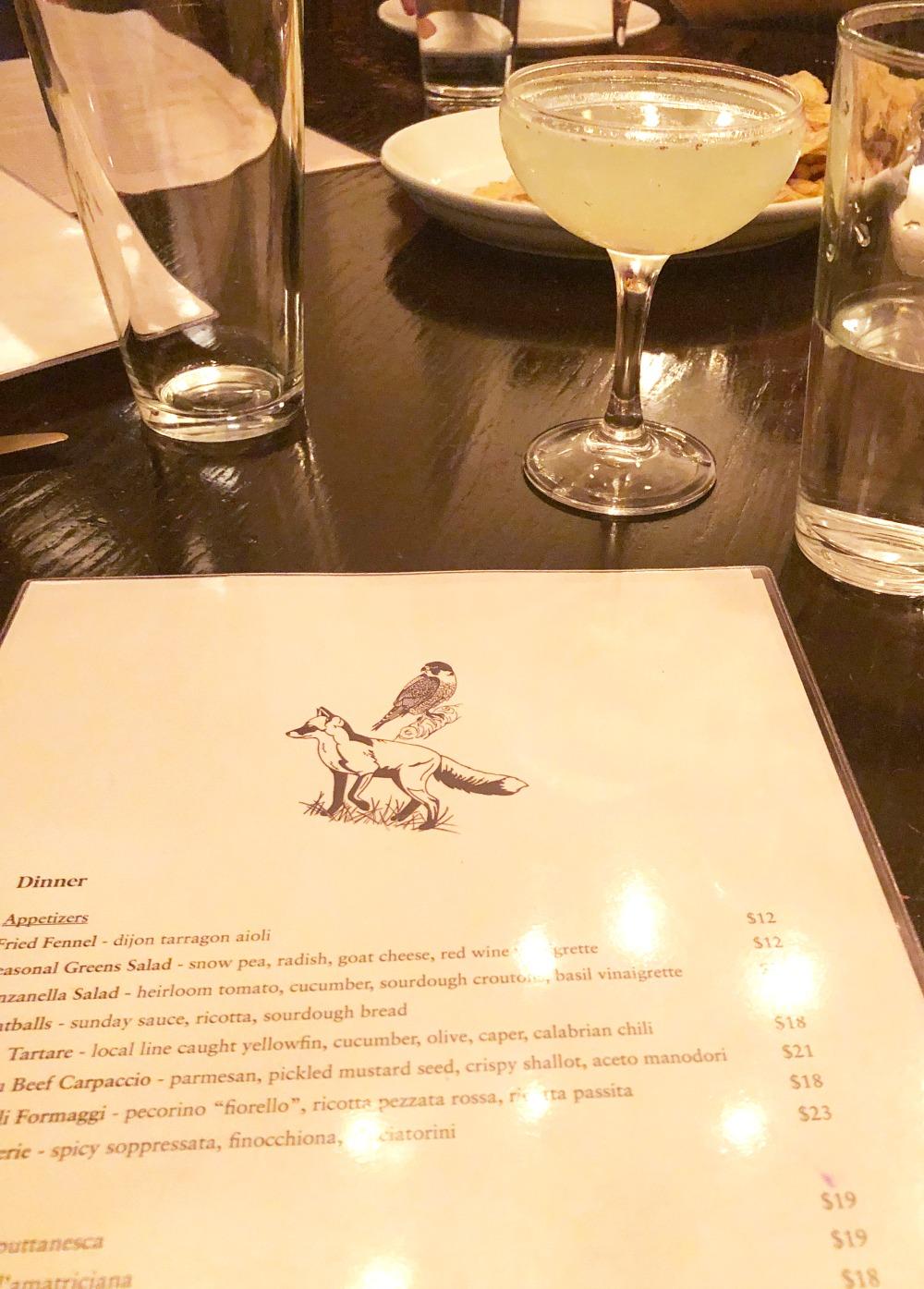 Photo Diary I South Orange New Jersey Fox and the Falcon Restaurant Martini #Travel #travelblogger