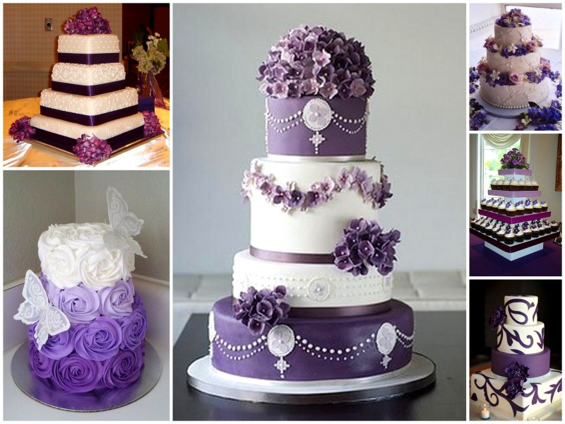 Purple Wedding Cake   Dream Irish Wedding Purple Wedding Cake