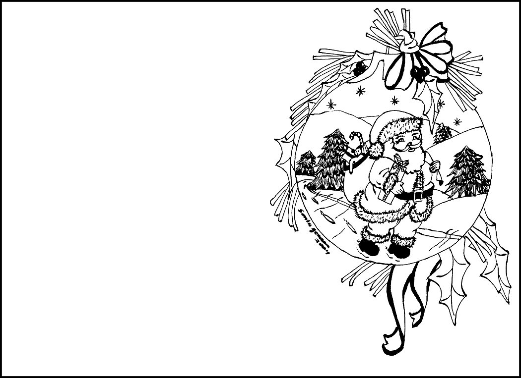coloring christmas cards free coloring pages