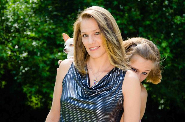 Kerstin photobombing her mom.