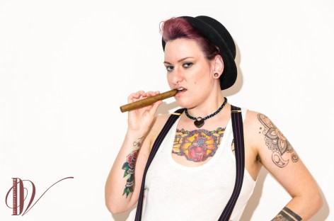 Bettie N Love - Genderqueer - Sleazy Drag King shoot.