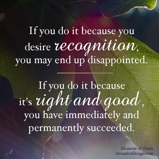 Inspiration - Right and Good | www.DreamleafDesign.com