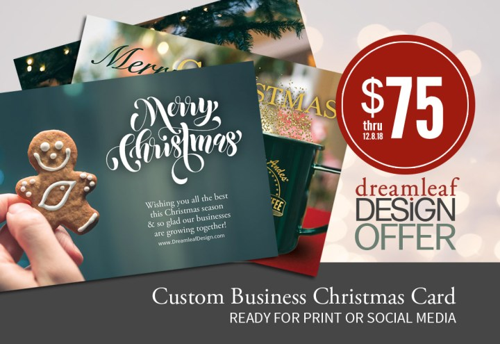 Christmas Card offer by Dreamleaf Design