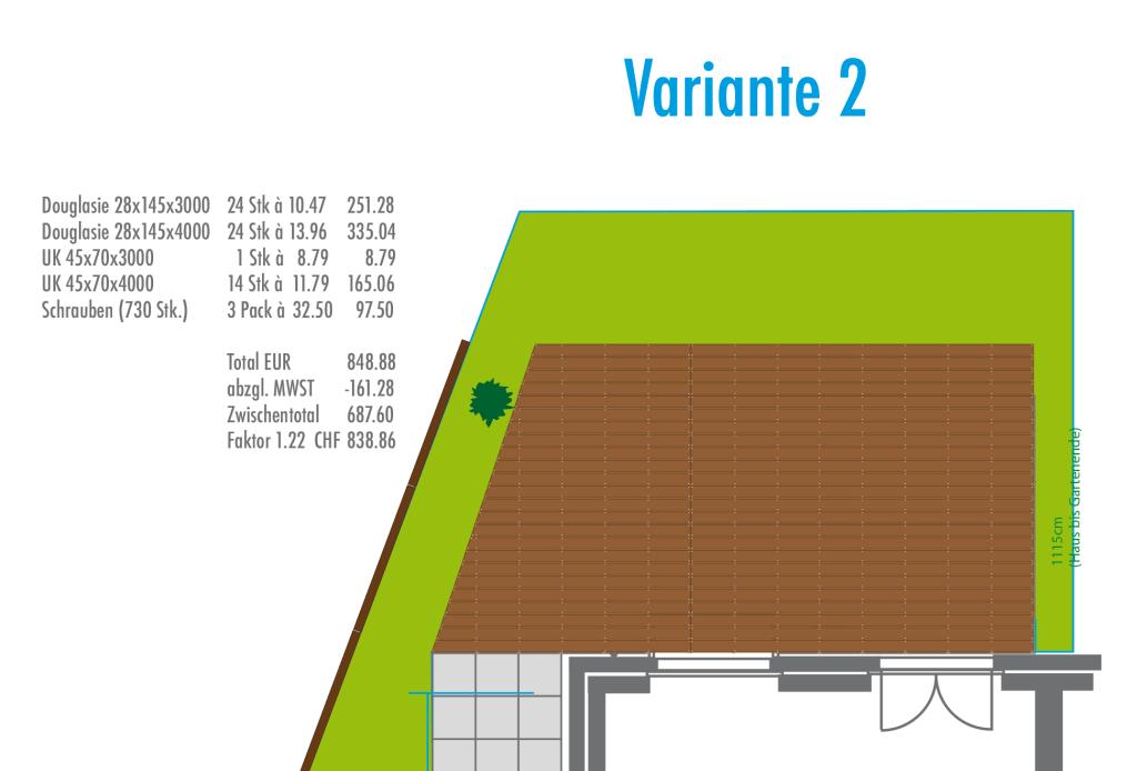Grundrissplan Terrasse