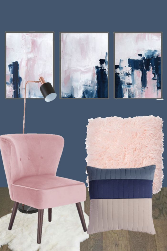 Navy Blue And Pink Bedroom Inspiration Dream Of Home