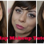 Everyday Makeup Tutorial with pink and red lips