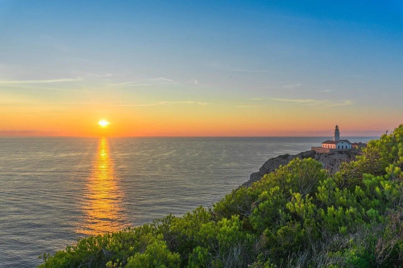 Sunset on Spain's coast.