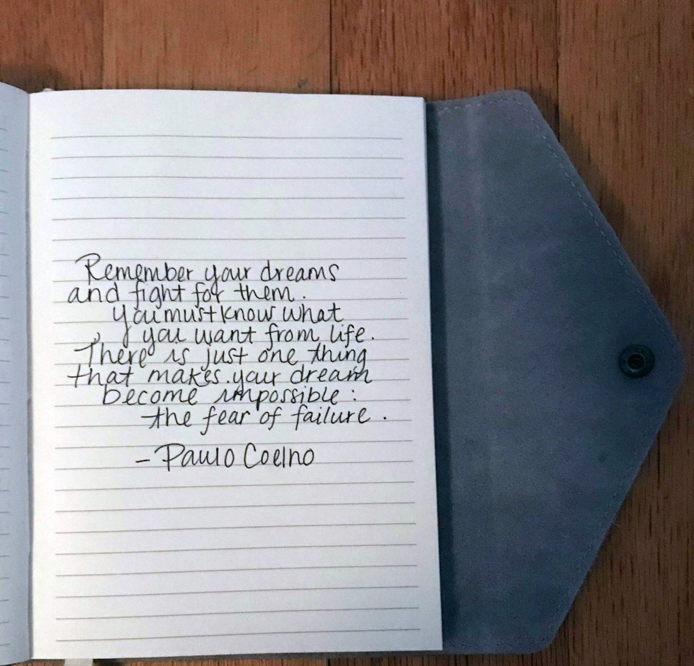 remember your dreams quote personal journal