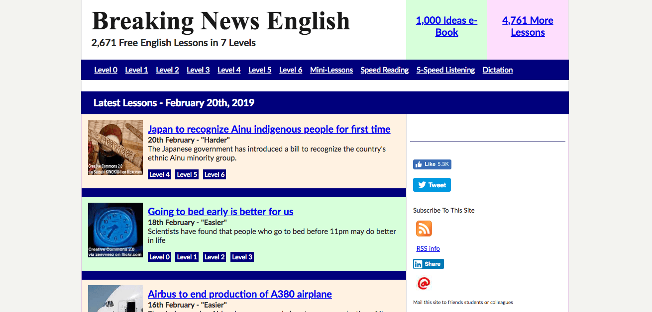 Breaking News English Education