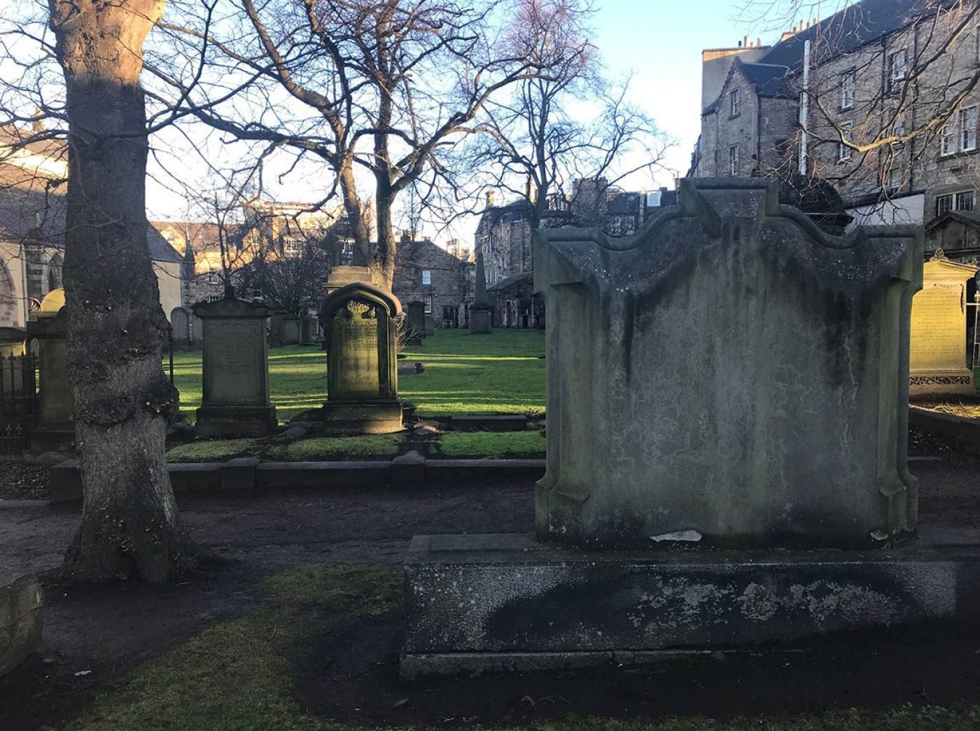 graveyard surrounding Greyfriars Kirk in Edinburgh