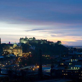 Edinburgh Castle at dusk