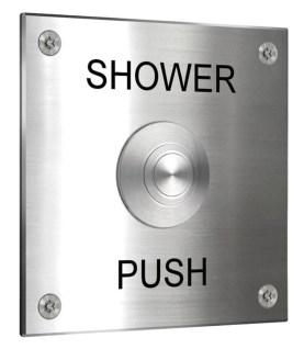 push button shower