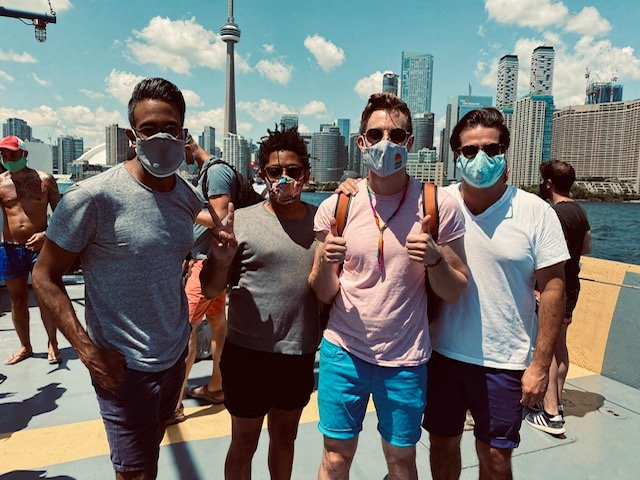 Jonathan Metrick visiting friends from Toronto while working during a pandemic
