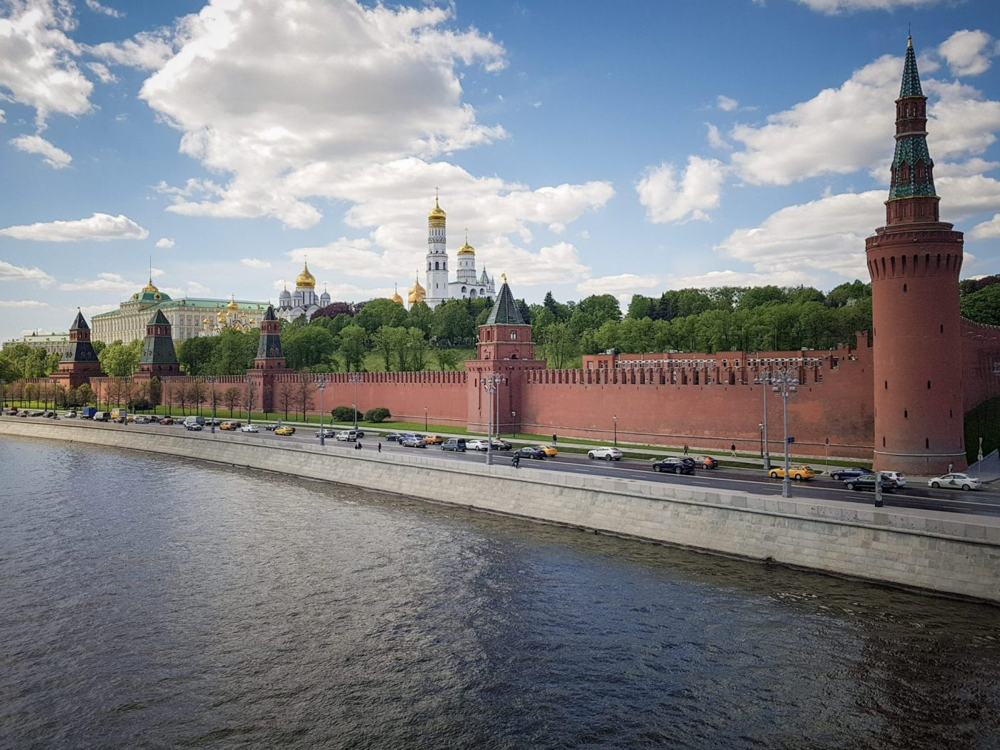 The Kremlin in Moscow, which Lucy and Matt saw whilst travelling as a couple